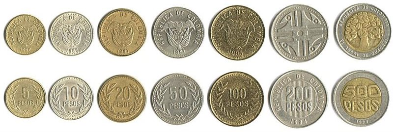 Colombia Pesos Coins
