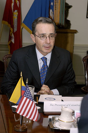 Alvaro Uribe in 2004