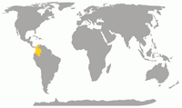 Location of Colombia compared to the world