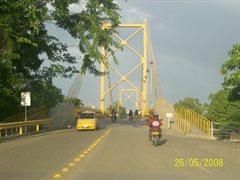 Monteria voor aanzicht oude brug